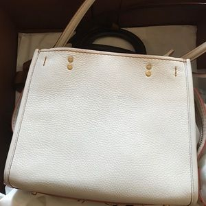 Coach 1941 rouge 25 white/caramel small handbag